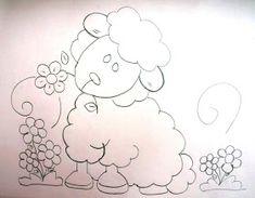 Mão Amiga Stone Painting, Hand Embroidery, Hello Kitty, Cartoon, Fabric, Nova, Home Decor, Sheep Crafts, Baby Painting