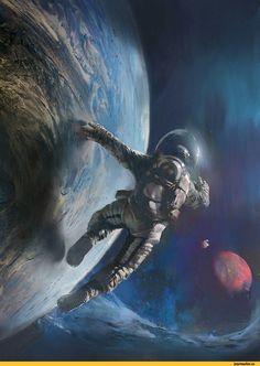 красивые картинки,космос,планета,астронавт