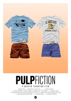 Pulp Fiction - movie poster - Tom Velez