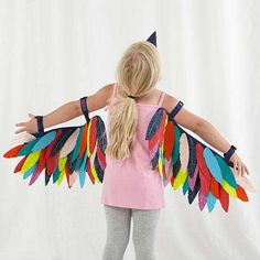 Shop Wild Wings Dress Up Set (Bird). Dress up set features a pair of intricately stitched bird wings and a beak, so your little one can spend their afternoons zipping across the sky and eating all the birdseed they can. Well, maybe not the birdseed part. Diy Halloween Costumes For Kids, Cute Costumes, Baby Costumes, Children Costumes, Halloween Halloween, Costume Carnaval, Carnival Costumes, Bird Wings Costume, Bird Costume Kids