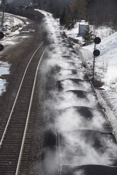 steaming taconite on a cold winter morning in northern minnesota. this is home.