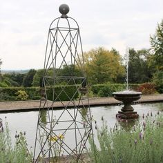 King Garden Obelisk from the Somerset Range from Agriframes, making an ideal gardening tool for growing numerous different tall plants and small climbers. Garden Art, Garden Tools, Garden Ideas, Fruit Cage, Gazebo, Pergola, Garden Arches, Seaside Garden, Tall Plants