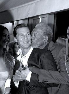 Matthew McConaughey & Morgan Freeman   one kiss per day