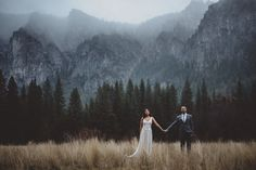 """Yosemite Winter Wedding - """"Sandra and Shawn eloped in Yosemite National Park on a gloriously rainy winter day. It was pure magic."""""""