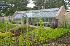 A 3/4 span greenhouse at the centre of their highly productive walled garden at the wonderful Pig on the Beach in Studland.  www.alitex.co.uk