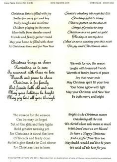 christmas verses greeting cards la pashe easy peely verses for cards christmas 1 handmade templates Christmas Card Verses, Birthday Verses For Cards, Christmas Card Messages, Christmas Sentiments, Christmas Cards To Make, Xmas Cards, Christmas Card Wording, Christmas Crafts, Christmas Sayings And Quotes