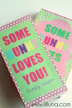 Super Cute Some BUNNY Loves You Easter Gift Idea { lilluna.com } #easter