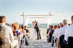 Tie the knot with the sand, sea and sky as your backdrop at the Dunes Club, Atlantic Beach, NC. Photos by Cynthia Rose Photography.