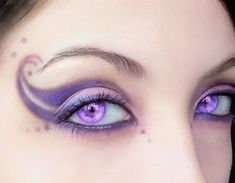 Fairy  Makeup on Romantic Fairy  Using A Scale Of Purple And Light Pink  With Perfect