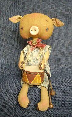 Купить Три поросенка - поросята, поросенок, три поросенка, ароматизированная кукла, интерьерная кукла