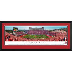 Worldwide Blakeway Panoramas 'Utah Utes Football 50 Yard Line' Framed Print