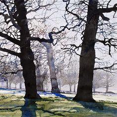 Frost Richmone Park, Watercolour, 55x55 cm. Ian Sidaway Studio. Truly gorgeous.