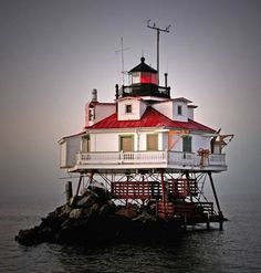 Located in the Chesapeake Bay not far from Annapolis, Maryland, the Thomas Point Shoal Lighthouse is one of nine lighthouses in our nation to have been designated a National Historic landmark