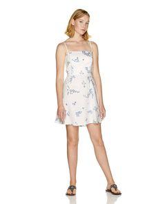 6a6f4c867ddc Vestiti e Tute Donna 2019   Vestito a fiori in lyocell e lino Bianco.  Spedizione