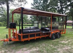 Along with your new custom BBQ trailer, East Texas Smoker Company has all the accessories and custom add-ons for your new pit! Bbq Smoker Trailer, Bbq Pit Smoker, Trailer Smokers, Custom Bbq Smokers, Custom Bbq Pits, Bar B Que Grills, Backyard Smokers, Outdoor Bbq Kitchen, Hawaiian Bbq