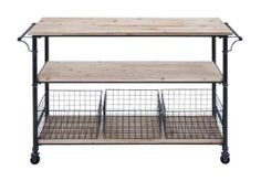 Restoration Industrial Vintage Style Hardware Cart Console Table Casters   eBay