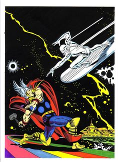 Thor vs Silver Surfer by John Buscema