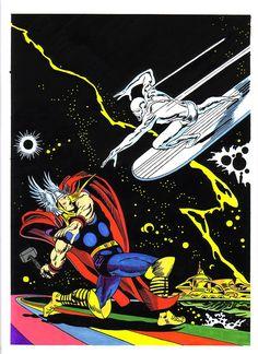 Thor vs Silver Surfer by John Buscema