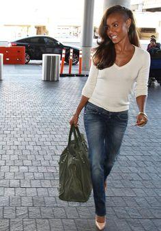 Jada Pinkett Smith Airport Outfit | HelloBeautiful