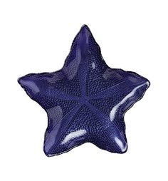 Nice and colorful marine life, always a great accent. VIETRI - Sea Glass Purple Large Starfish Dish.