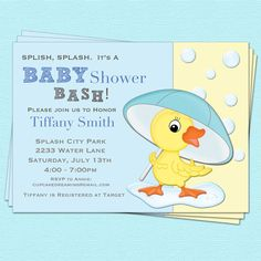 Duck Baby Shower invitation #etsy