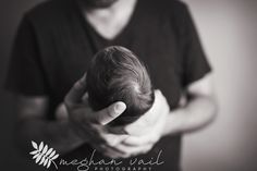 Newborn Fine Art Photos | Newborn Photographer | Meghan Vail Photography | Orlando Quality Newborn Photographer | Daddy and Baby Pictures | Black and White Photography