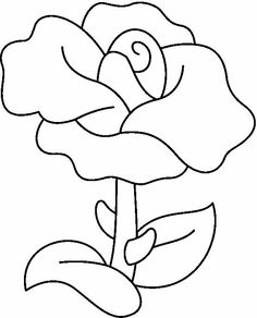 Flower Coloring Page Applique Patterns, Applique Quilts, Applique Designs, Quilt Patterns, Embroidery Designs, Stained Glass Patterns, Mosaic Patterns, Beading Patterns, Rosa Stencil