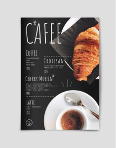 Add a creative flavor to your coffee shop menu with this ready-made cafe menu template designed by Flipsnack. French Coffee Shop, Coffee Shop Menu, Coffee Cafe, Menue Design, Food Design, French Cafe Menu, Starting A Coffee Shop, Cafe Menu Design, Cafe Posters