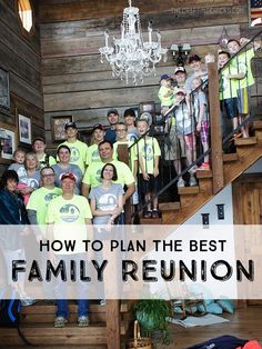 How to Plan a Family Reunion  I like the video clips idea