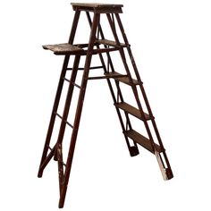 Antique Vintage Painter's Ladder, Early 20th Century | From a unique collection of antique and modern architectural elements at https://www.1stdibs.com/furniture/building-garden/architectural-elements/