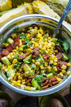 Creamy Bacon and Avocado Corn Salad