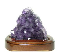 Amethyst Crystal Cluster Raw Purple Crystals in by FenderMinerals