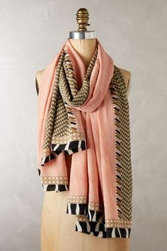 Safari Chevron Silk Scarf #anthroregistry