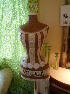 Wedding Bride Dress Form Mannequin vintage by StarviewSonnet