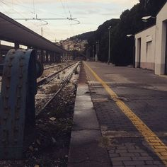 ... you just start again you start all over again. #trieste #traintracks #start