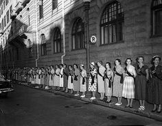 Black Sash protest, Cape Town, 1955