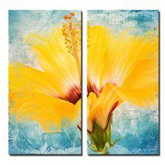 2-Piece Painted Petals XVII Canvas Print