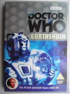 """""""Earthshock"""" is an adventure of the nineteenth season of """"Doctor Who"""" classic series which aired in 1982 featuring the Fifth Doctor, Adric, Tegan and Nyssa. It follows """"Black Orchid"""" and it's a four parts adventure written by Eric Saward and directed by Peter Grimwade. Image from the British edition of the DVD. Click to read a review of this adventure!"""