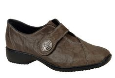 Rieker L3870 Ladies Button Detail Touch Fastening Slip On Casual Shoe - Robin Elt Shoes  http://www.robineltshoes.co.uk/store/search/brand/Rieker-Ladies/ #Autumn #Winter #AW13