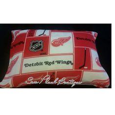 Detroit Red Wings Fleece Pillowcase, Pillowcase, Red Wings, Fleece Pillowcase, NHL Pillowcase, NHL, Hockey Pillowcase by SewPlushBoutique on Etsy