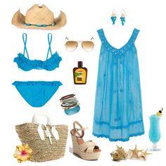 """Bora Bora Resort Wardrobe"" by coastalstyleblogspot on Polyvore"