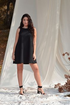Black dress, Little black dress, Sexy dress, Oversize dress Extravagant Loose Dress Gothic dress