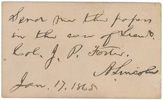 RR Auction: Browse Gallery Abraham Lincoln