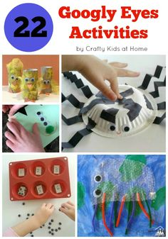 Every activity is better when you use Googly Eyes. We love to use Googly Eyes in our arts and crafts, learning games and in sensory play activities. Come and see how we have found 22 different ways to use them over on Crafty Kids at Home.