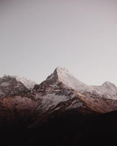 Magenta and warm tones of mountains