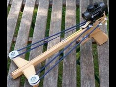 Building and Shooting the Slingshot Crossbow Pistol 3 - YouTube