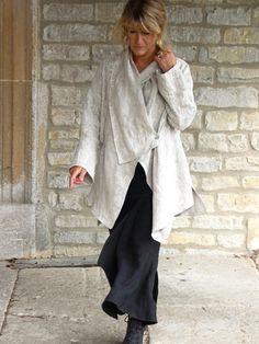 paris shirt over asia skirt in linen