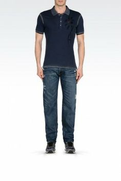 Jeans Emporio Armani Men's Jeans Blue V6J155Y115 #Jeans #Emporio Armani