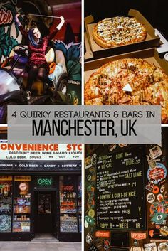 Where to eat in Manchester | Bars in Manchester | Things to do in Manchester | Places to visit in the UK | Pizza restaurants | Unusual bars | Weekend break ideas #manchester #england #uk #restaurants