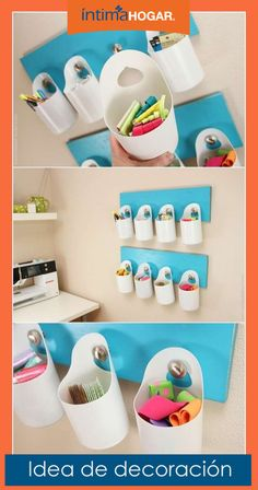 14 Easy DIY Plastic Bottle Projects - Vinyl Bottles are something you'll surely see on your residence, some may be new while some may be old. Plastic Bottle Crafts, Recycle Plastic Bottles, Detergent Bottle Crafts, Eco Deco, Bleach Bottle, Recycled Bottles, Diy Recycle, Diy Home Crafts, Diy Organization